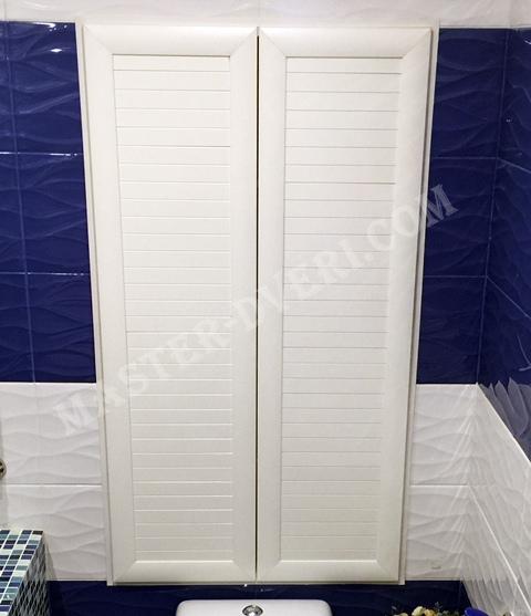 сантехнический шкаф в туалете под плитку